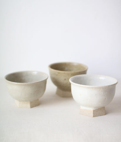 Iga Small Bowl with Hexagon Foot