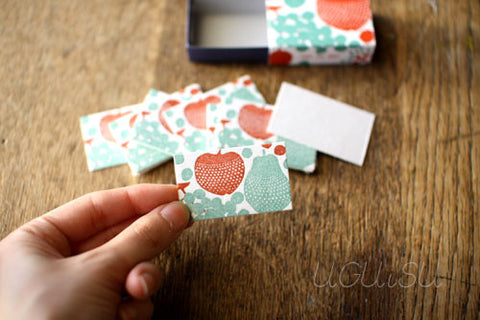 Ten-to-sen Letterpress Mini Note Cards in Match Box (backorder)