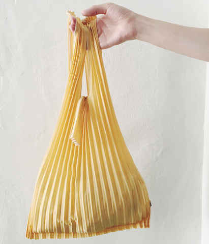Pleated Eco-Bag Small {Mustard} (Will be shipped end of August)