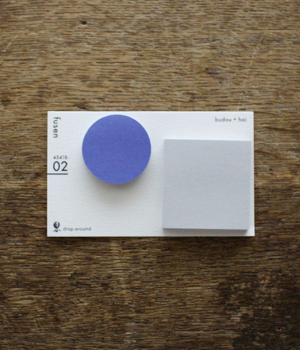 Fusen Sticky Notes {02: budou+hai / Round & Square}