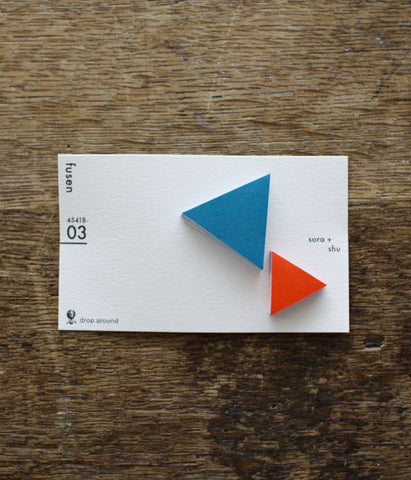 "Drop Around ""fusen"" Sticky Notes {03: Blue&Red / Triangles}"