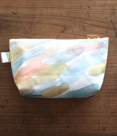 HARVEST zipper pouch {pool}