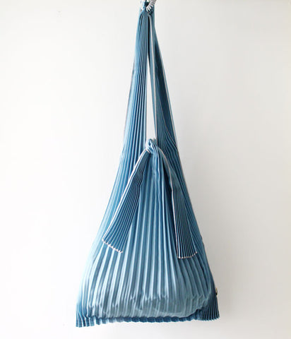 Pleated Eco-Bag Large {Blue Grey}