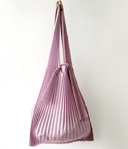 Pleated Eco-Bag Large {Purple}
