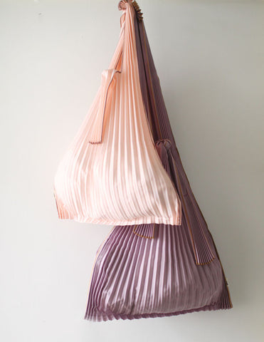 Pleated Eco-Bag Large {Pink}