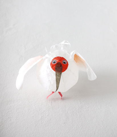 Japanese Paper Balloon {White Bird}