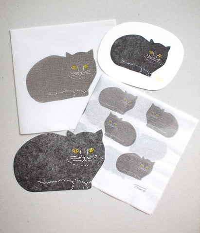 Black Cat Paper Napkin