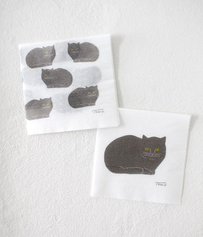 Tomotake Black Cat Paper Napkin