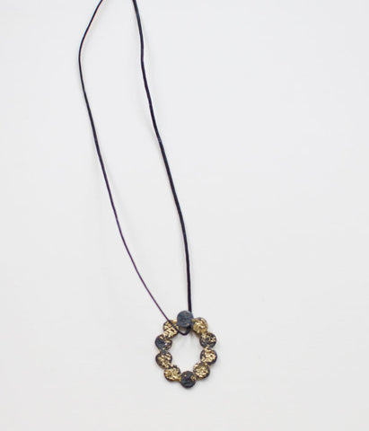 Jona Tenten O Necklace {Black}