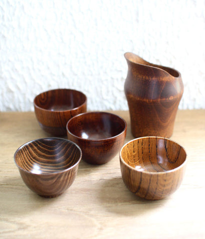 Japanese Wood Sake Cup {Oak}
