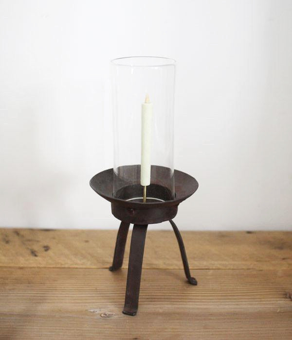 Glass and Iron Japanese Candle Stand {Large} (backorder)