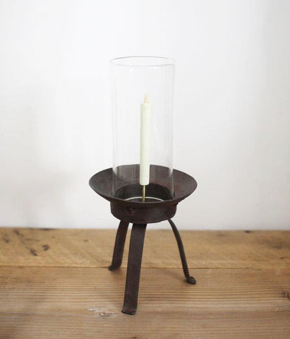 Glass and Iron Japanese Candle Stand {Large}