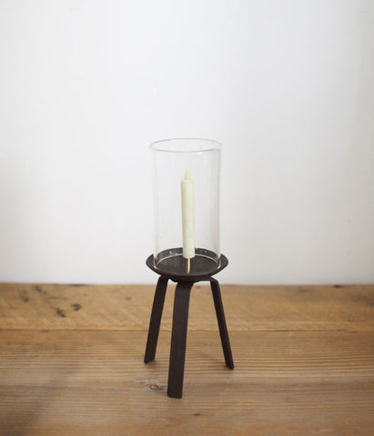 Glass and Iron Japanese Candle Stand {Small} (backorder)