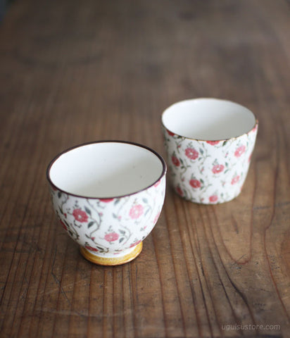 Aya Yamanobe Ceramic Cup {Red Flowers}