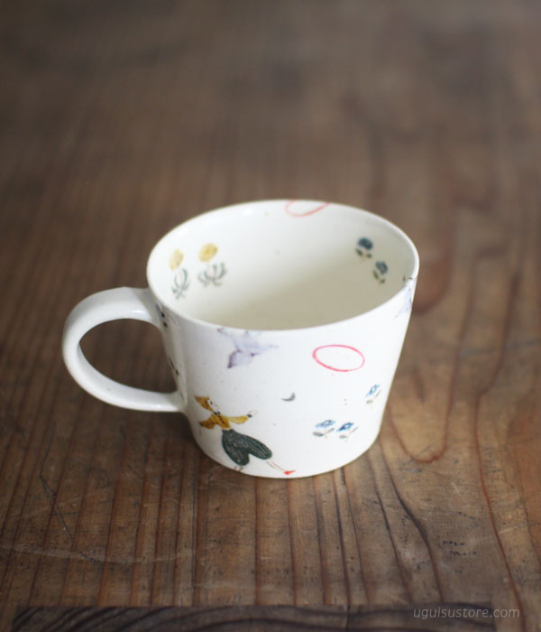 [SOLD OUT] Hand Painted Ceramic Mug {Garden Party}