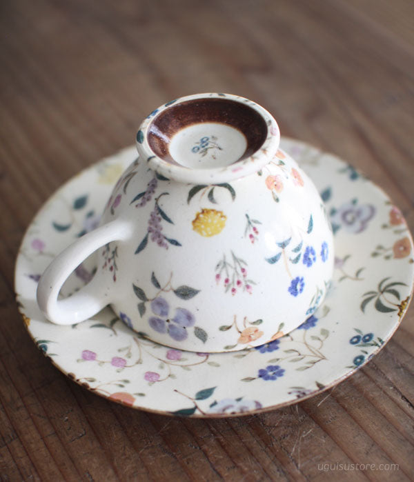 [SOLD OUT] Cup & Saucer {Wild Flowers Colourful}