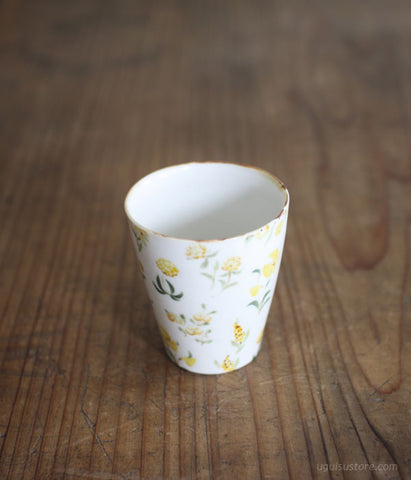 [SOLD OUT] Aya Yamanobe Small Tumbler {Wild Flowers Yellow}