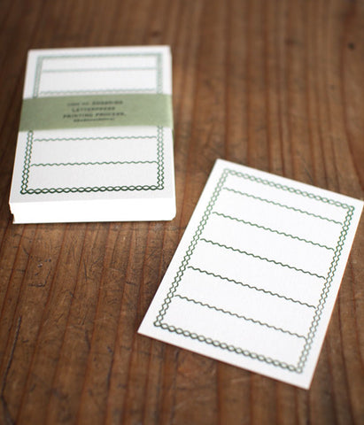 Letterpress Frame Cards Pack of 50 {Green}