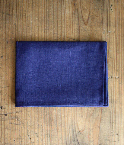 fog linen work Thick Linen Kitchen Cloth/Tea Towel {Blue Violet}