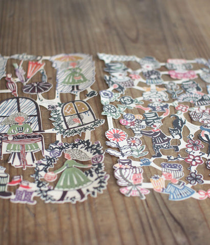 Mihoko Seki Papercut Sticker Sheet