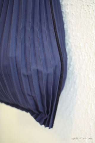 [Backorder] Pleated Eco-Bag Small {Navy}