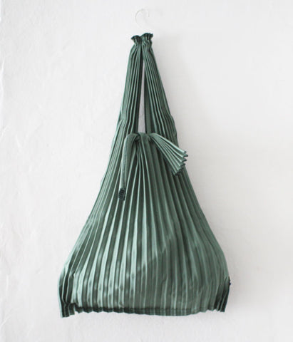 Pleated Eco-Bag Small {Green}
