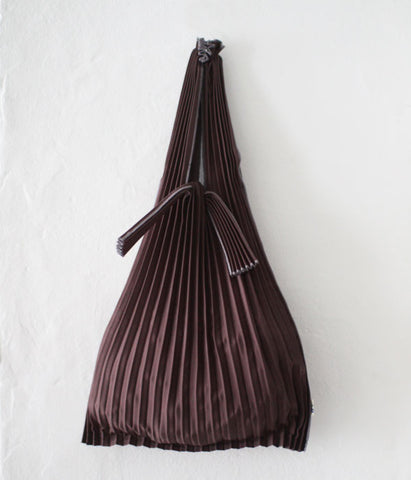 Pleated Eco-Bag Small {Dark Brown}