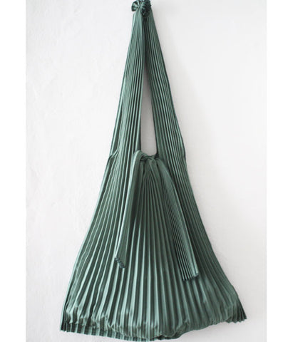Pleated Eco-Bag Large {Green}