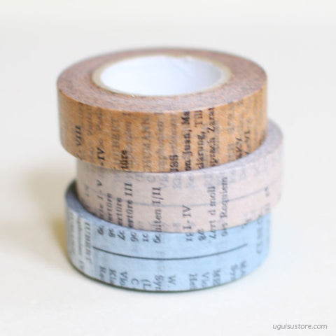 CRAFT log Masking Tapes {Old Book}