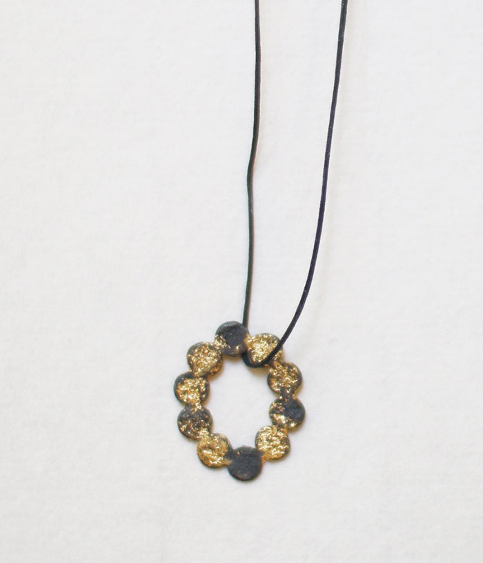 Yasushi Jona Tenten O Necklace {Black} (backorder)