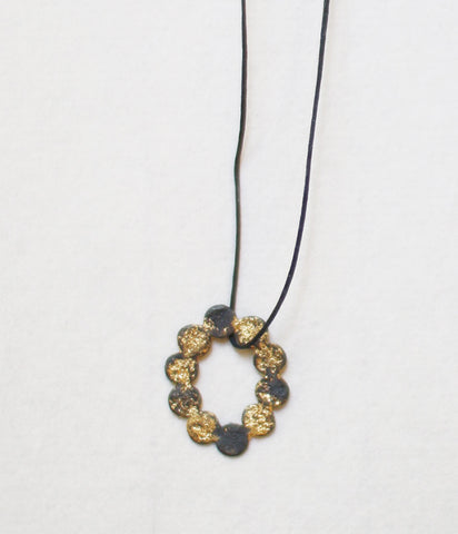 Jona Tenten O Necklace {Black} (backorder)