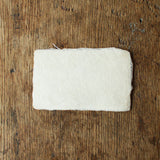 [SOLD OUT] Deckle Edged Japanese Washi Blank Calling Card {Kozo Paper}