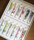 Floral Painted Candles 12 Month Set (small)