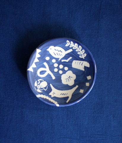 [SOLD OUT] Natsuko Kozue Mamezara Tiny Plate {UGUISU}