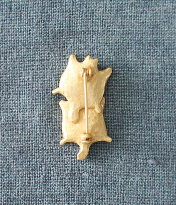 KIYATA Tin Brooch {Twin Flying Squirrels}