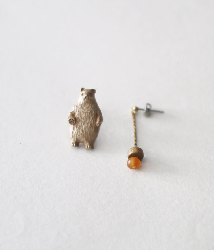KIYATA Tin Earrings {Bear}