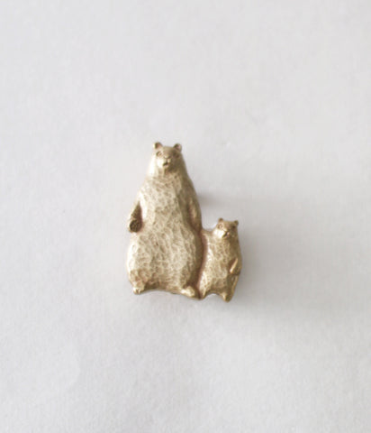 KIYATA Tin Brooch {Bear}