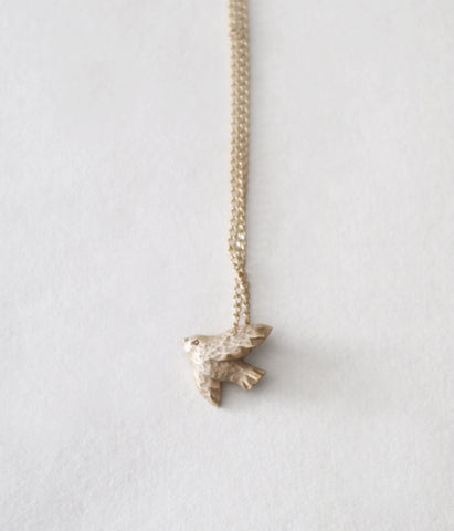 KIYATA Tin Bird Necklace