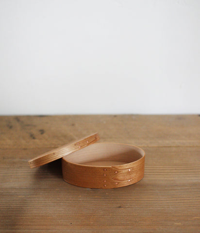 Oval Box Sakura Wood #1