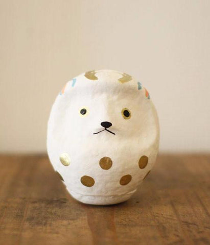 Good Luck White Deer Daruma Doll