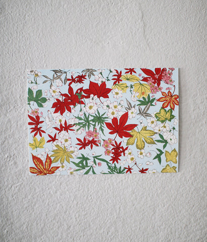 Meiji Era Floral Post Cards