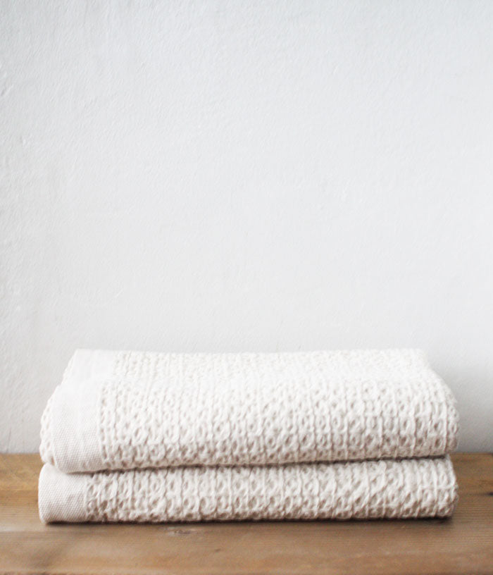 Kontex Organic Cotton Linen Waffle Bath Towel Xl Made In