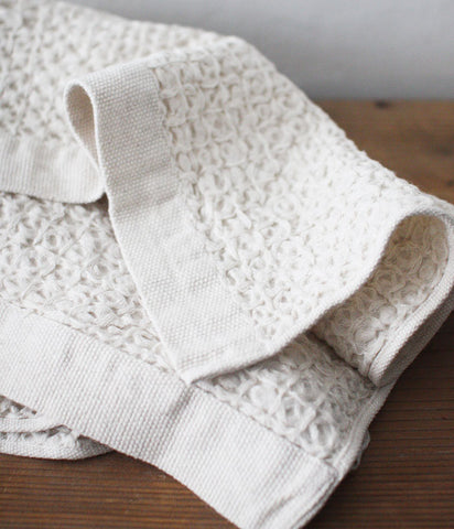 Organic Cotton & Linen Waffle Bath Towel [XL] (backorder)