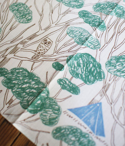 HARVEST Cotton Wrapping Cloth {Rainforest}