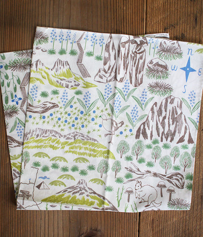 HARVEST Cotton Wrapping Cloth {Map}