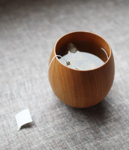 SAKURA Wooden Tea Cup {Natural}