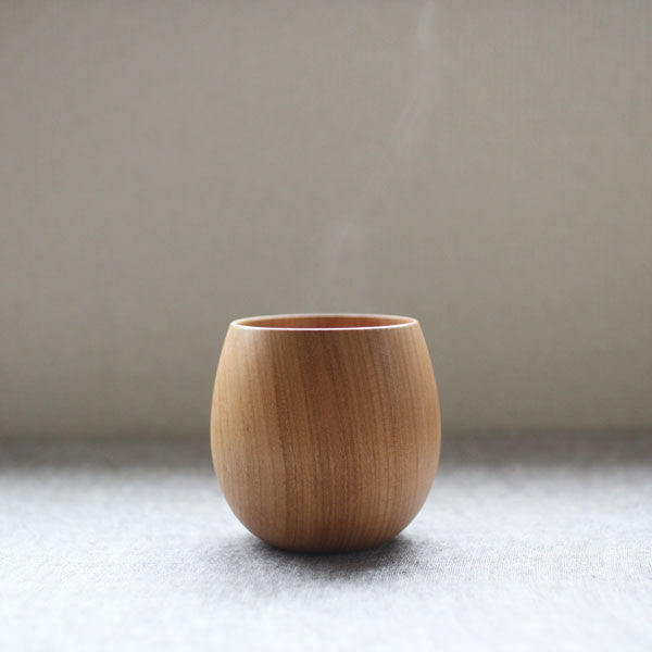 SAKURA Wooden Tea Cup {Natural} (will be shipped in May)