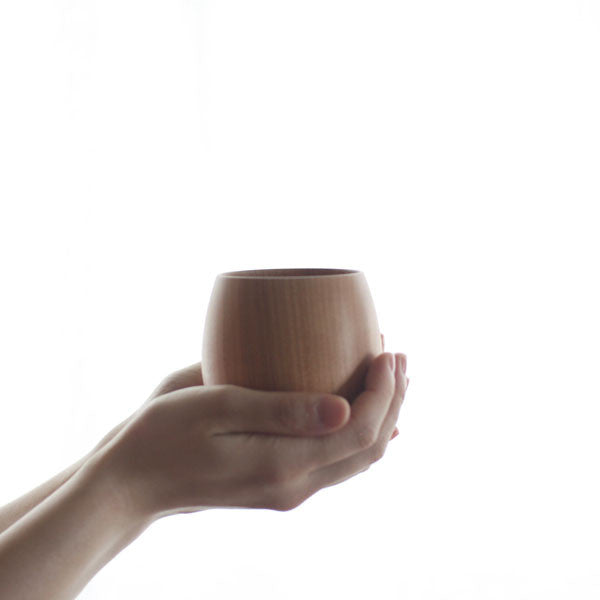 SAKURA Wooden Tea Cup {Black} (Will be shipped late April)