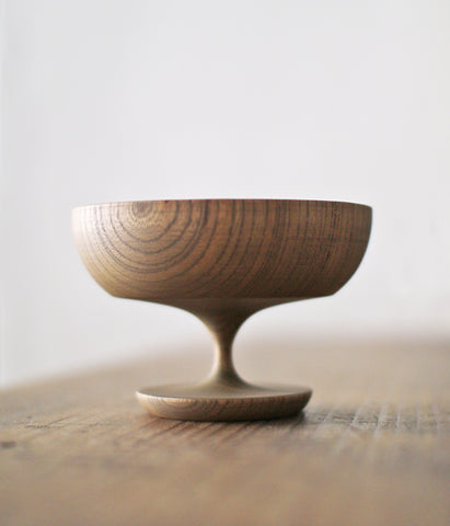SINAFU Wooden Footed Desert Bowl {Smoke Grey}