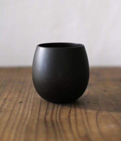 SAKURA Wooden Tea Cup {Black} (Backorder)